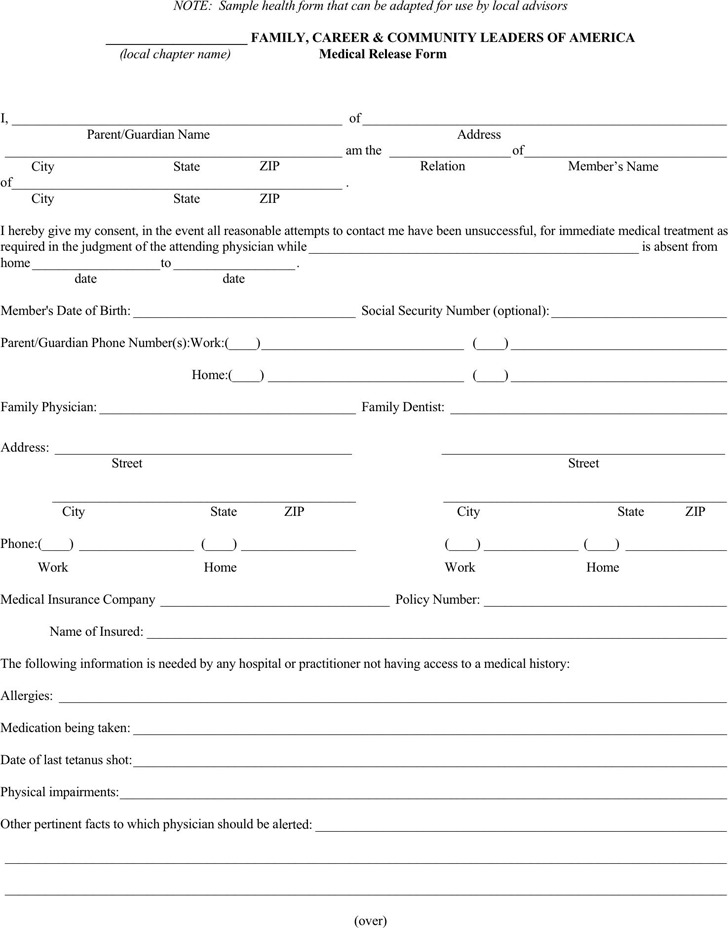 medical authorization release form hitecauto - hipaa compliant release form
