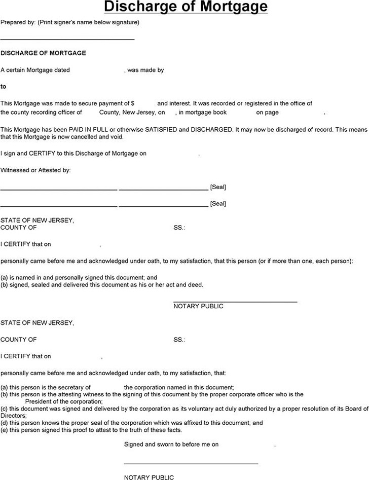 New Jersey Satisfaction of Mortgage Form Download Free  Premium - satisfaction of mortgage form