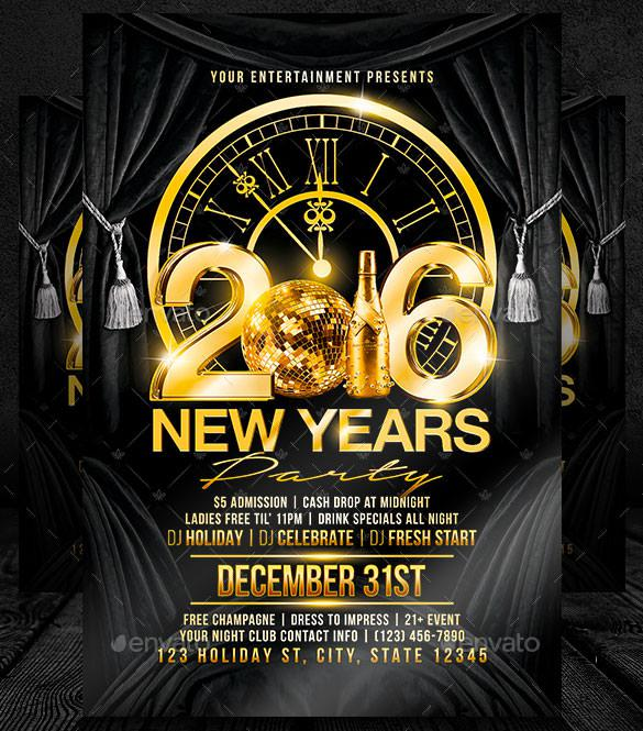 New Year Flyer Templates Download Free  Premium Templates, Forms - free new years eve flyer template