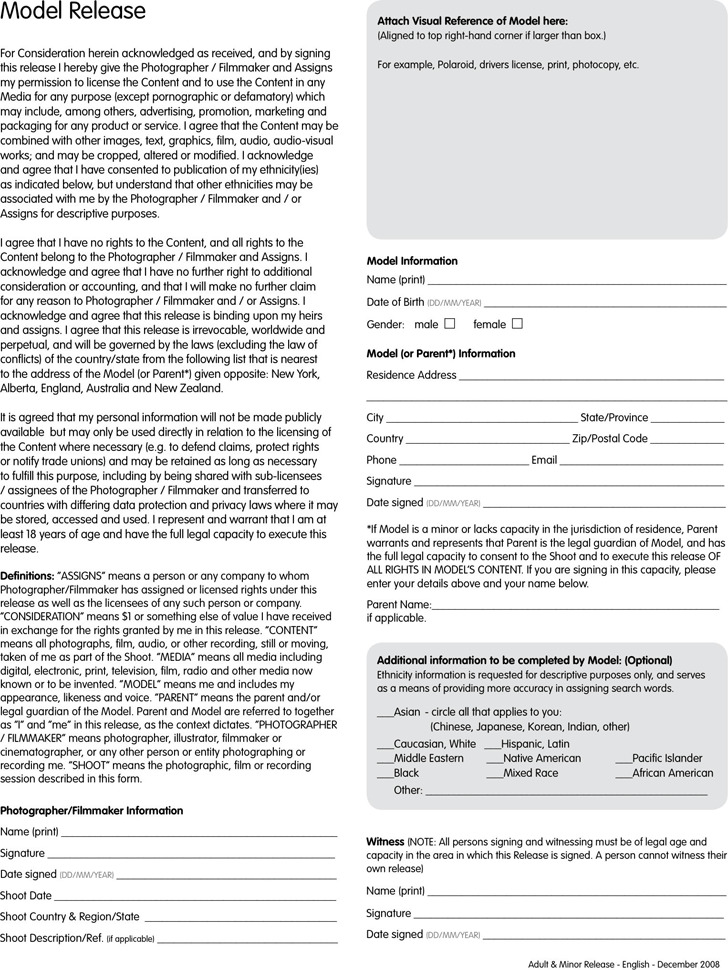 New York Model Release Form Download Free  Premium Templates - model release form in pdf