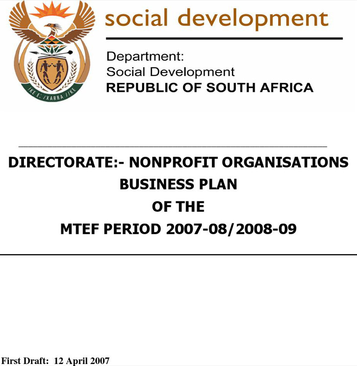 Business Plan For Non Profit Organization GenxeG Download A Sample - non profit business plan template