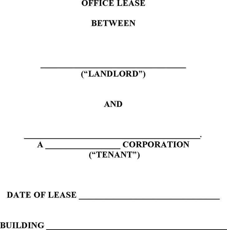 Doc#740979 Sample Office Lease Agreement u2013 13 Commercial Lease - sample office lease agreement