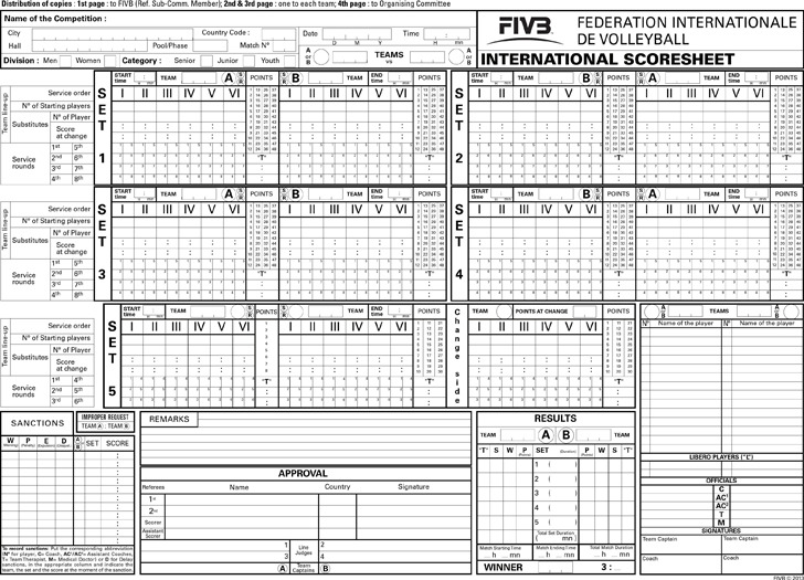 ... Volleyball Score Sheet Download Free \ Premium Templates, Forms    Wrestling Score Sheet ...