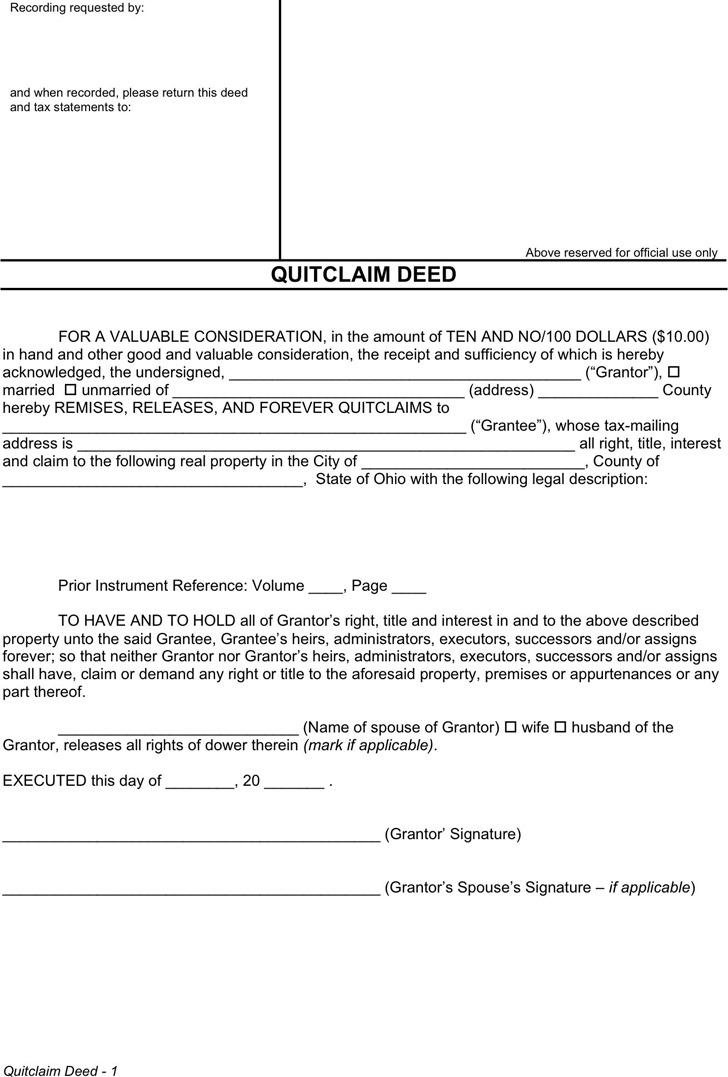 quick claim deed form hitecauto - grant deed form