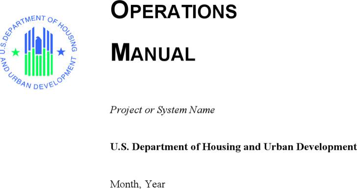 Operation Manual Template