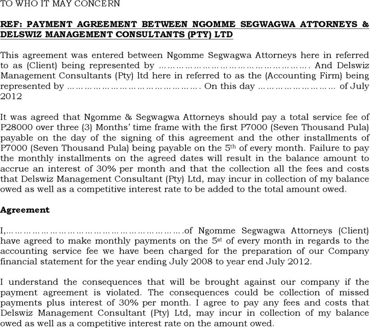 Payment Agreement Contract Role Of Marine Bioprospecting - payment agreement contract