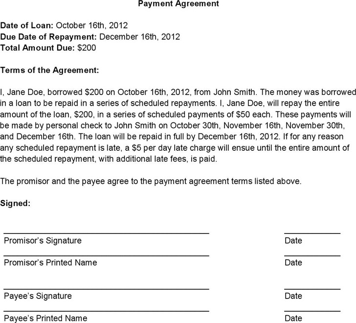 Payment Agreement Contract Download Free  Premium Templates - payment agreement contract