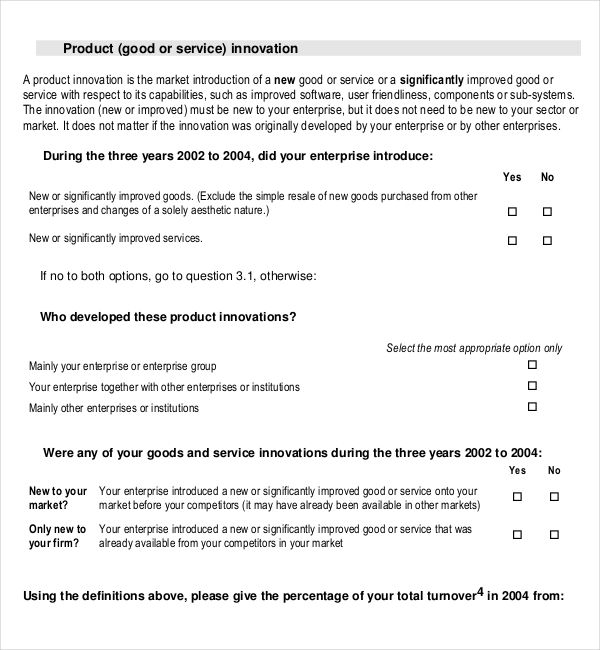 Training Survey Template u2013 Word, Excel, PDF Documents Download - site survey template