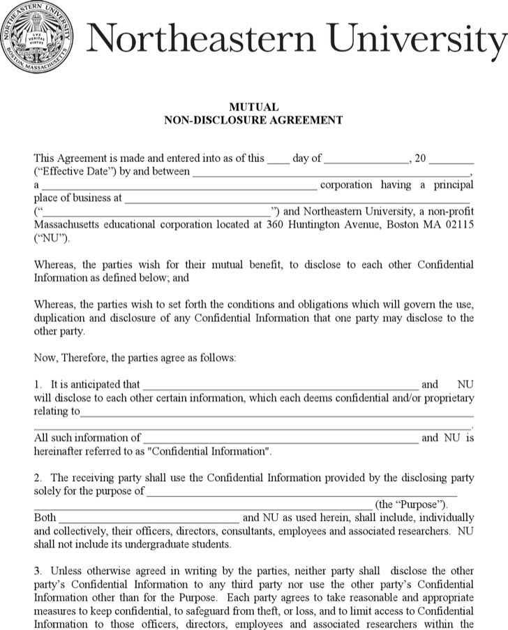 Doc400518 Non Disclosure Agreement Form Confidentiality – Confidential Disclosure Agreements