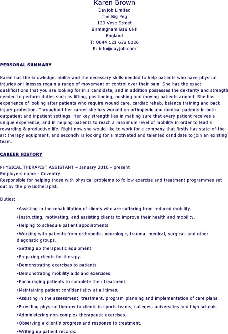 6+ Physical Therapist Resume Templates Free Download