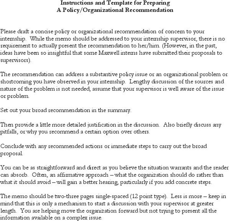 Policy Memo Template Download Free  Premium Templates, Forms - policy memo template