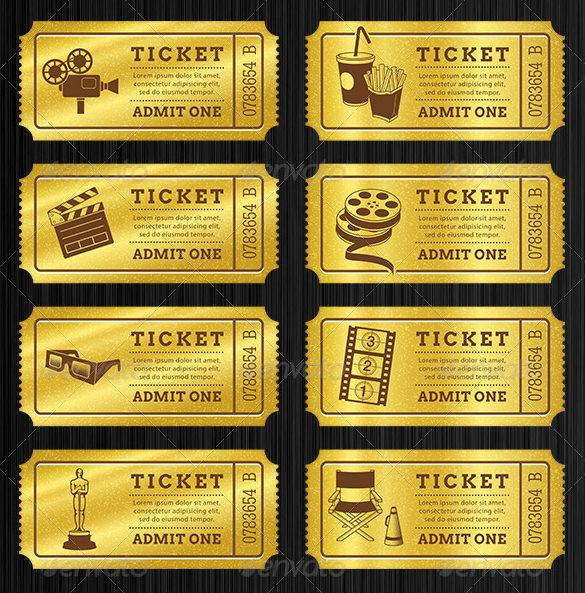 Ticket Templates Download Free  Premium Templates, Forms - prom ticket template