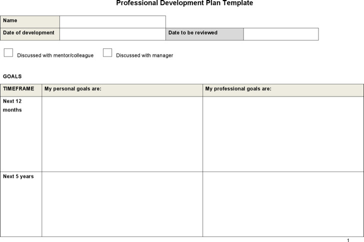 5+ Sample Professional Development Plan Templates Free Download