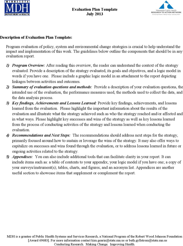 405 Program Evaluation Template Replace The Information In Evaluation  Proposal Sample Project .