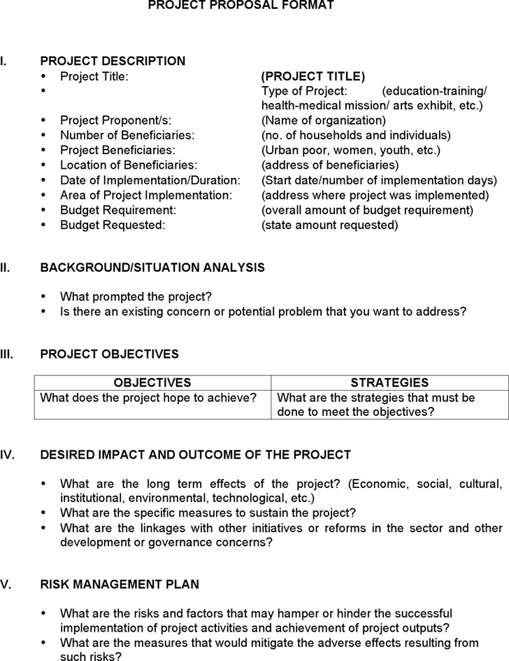Project Proposal Templates A Project Proposal Template Brochure - Sample Proposal Template For Project