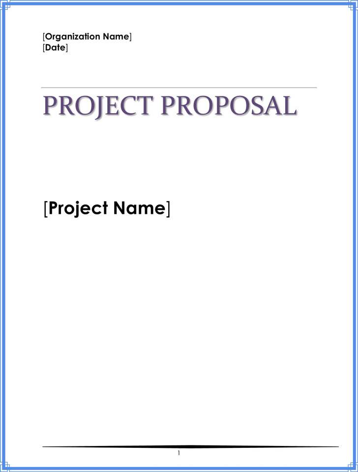 Project Proposal Template Download Free  Premium Templates, Forms