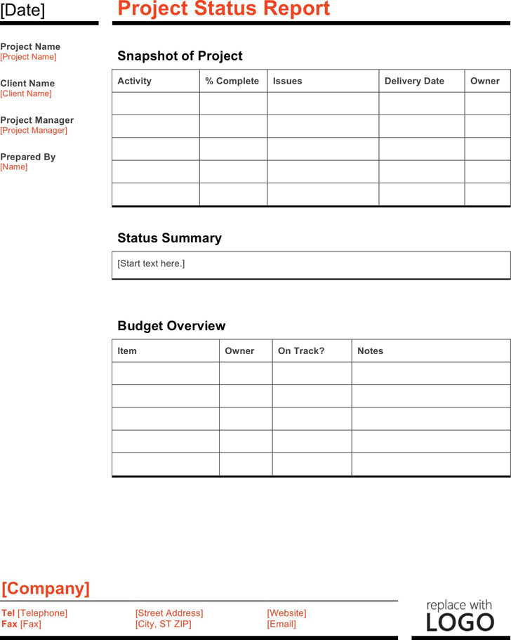 Status Report Template Sample Monthly Team Status Report Sample - format for monthly report