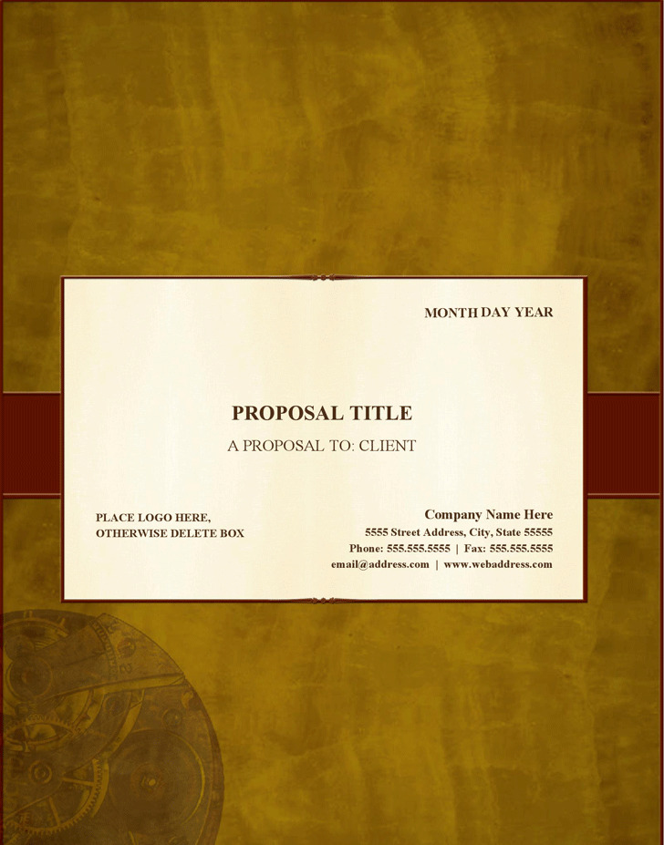 Generic Business Proposal Template Business Operating Plan Proposal