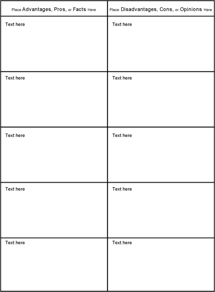 Blank Comparison Chart Template Templatebillybullock  - blank comparison chart template