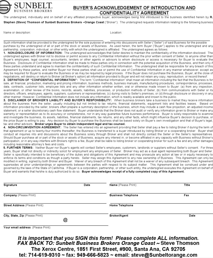 Real Estate Confidentiality Agreement Image Collections  Agreement