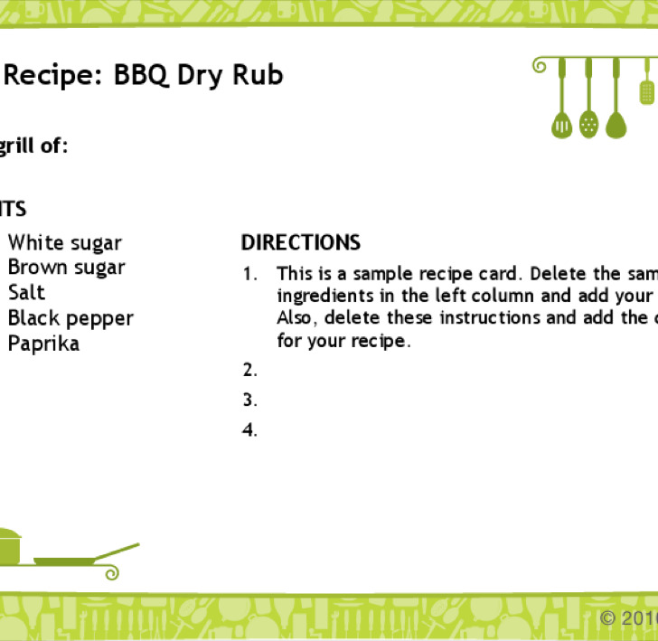 Word Recipe Card adefisjuventudinternacional - black and white recipe card template