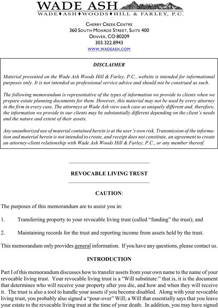 trust amendment form