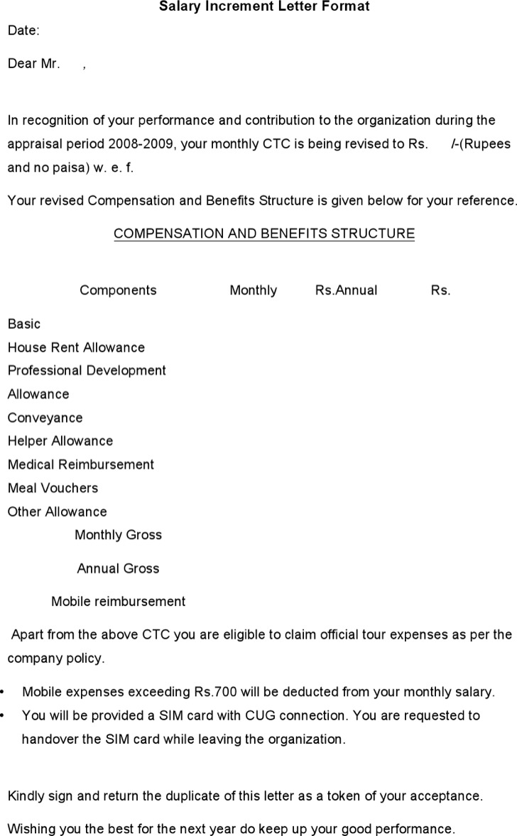 Increment letter how to create a sign up sheet how to write appraisal letter sample choice image letter format salary increment letter template format how spiritdancerdesigns Choice Image