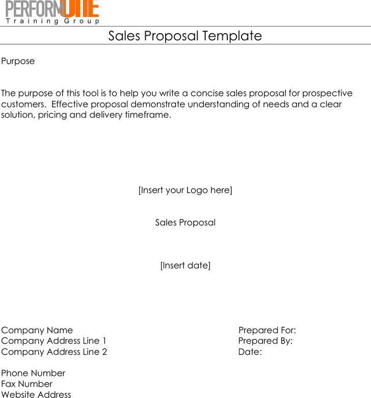 Sales Proposal Template Download Free  Premium Templates, Forms - free sales proposal template