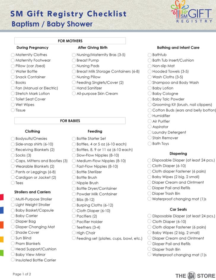 Sample Baby Shower Checklist Sample Baby Shower Checklist Sample - sample baby shower checklist