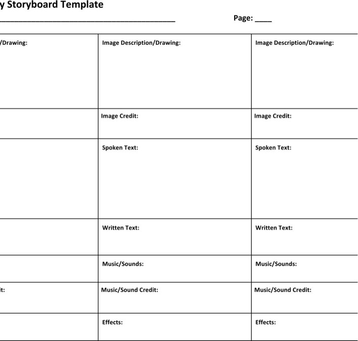 Commercial Storyboard Template Download Free \ Premium - sample video storyboard template