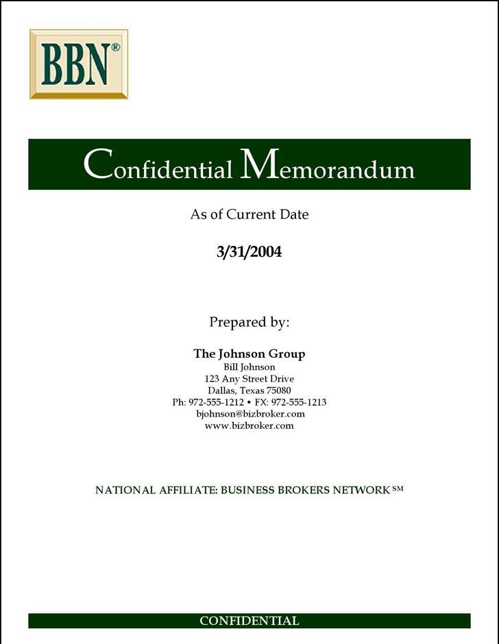 Sample Confidential Memo oakandale - confidential memo template