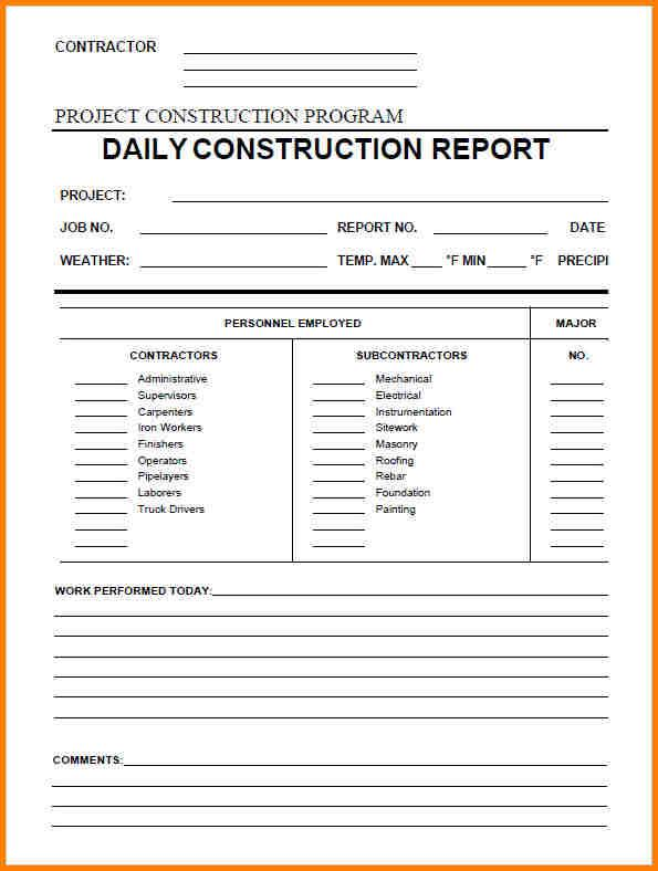 How to write a daily report sample jobsbillybullockus – Daily Report Template Word