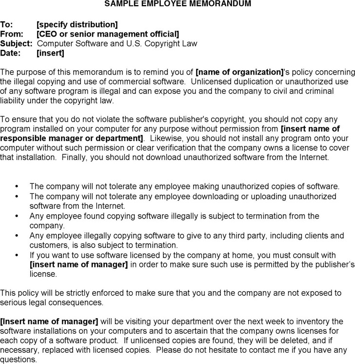 Employee Memo Templates  NodeCvresumePaasproviderCom