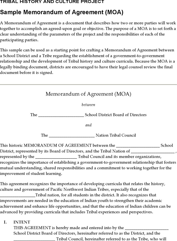Memorandum of Agreement Template Download Free  Premium Templates - memorandum of agreement template