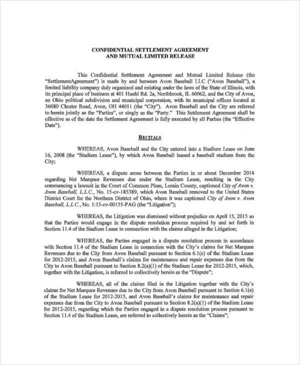 Release Agreement. 5+ release and hold harmless agreement form ...