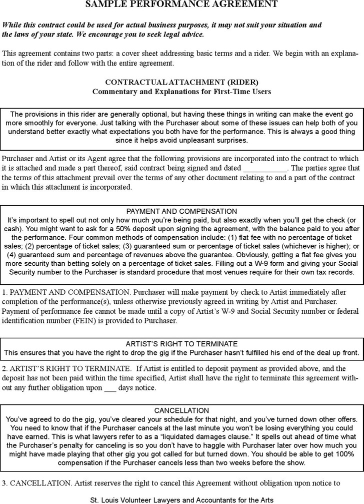 Performance Contract Template Download Free  Premium Templates - performance contract templates