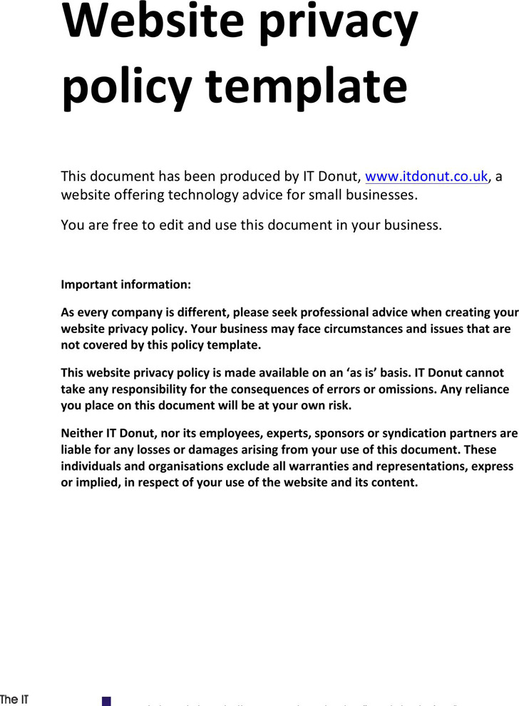Privacy Policy Sample Download Free  Premium Templates, Forms