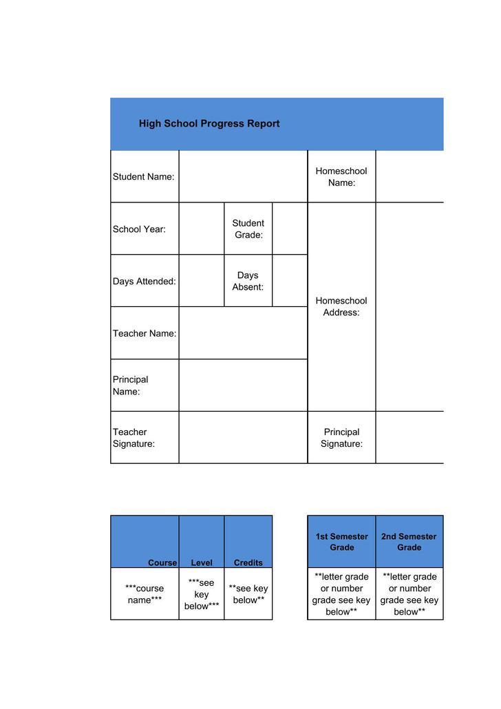 Sample Report Card Fake Report Card Template Report Card Template