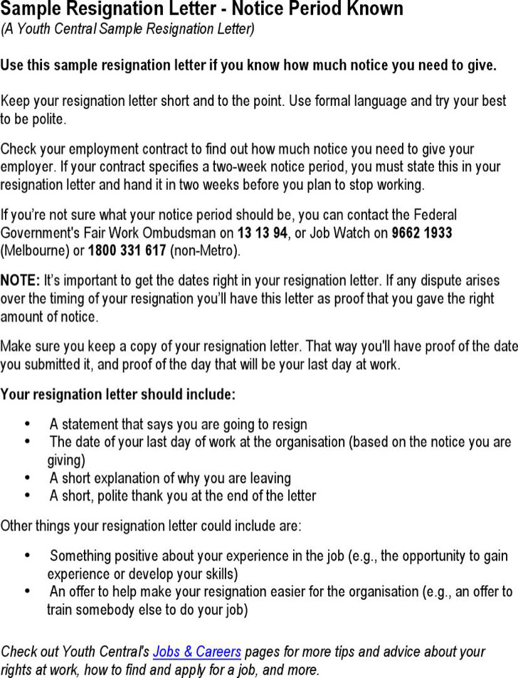 Notice Period Letter Templates Download Free  Premium Templates - why notice period is important