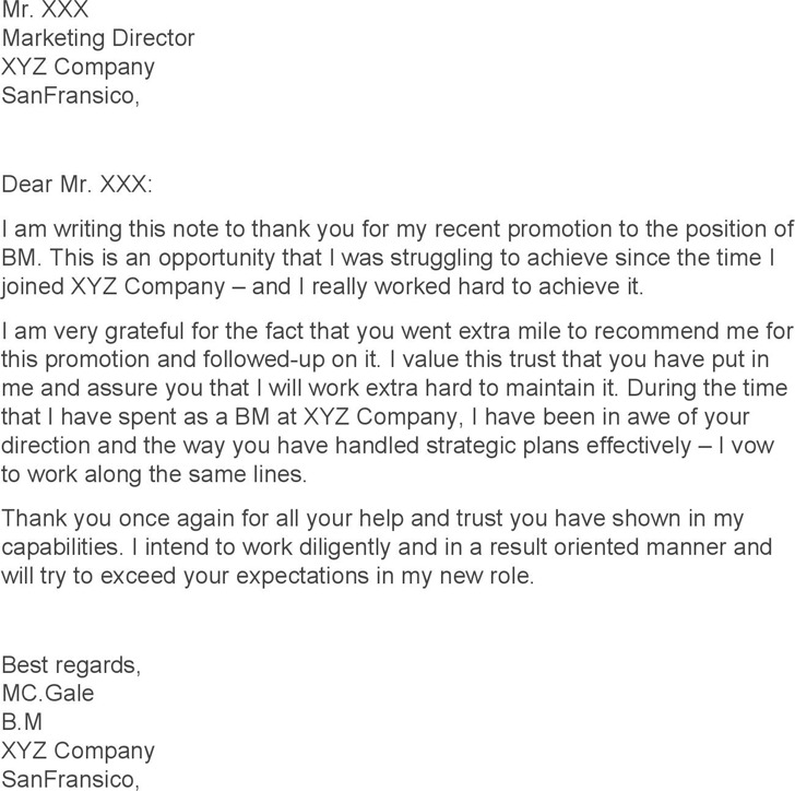 thank you letter for boss - Onwebioinnovate - thank you letter to boss