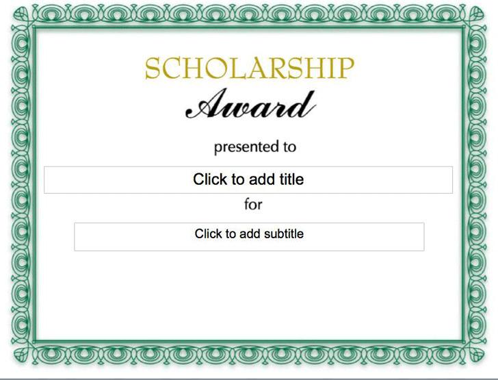 Scholarship Certificate Download Free \ Premium Templates, Forms - sample scholarship certificate