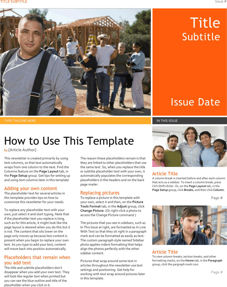 School Newsletter Template Download Free \ Premium Templates - news letter formats