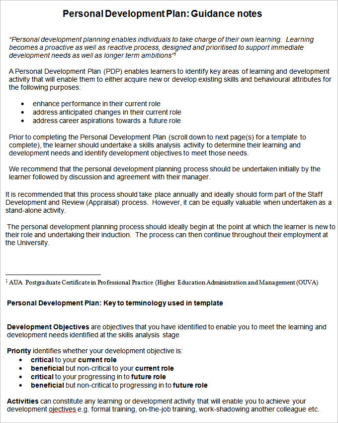 Professional Development Plan Template Free Images - Template Design - pdp templates