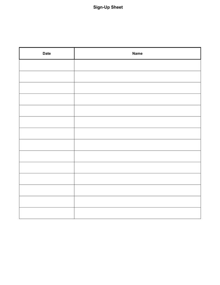 free sign up sheet template printable - Paso.evolist.co