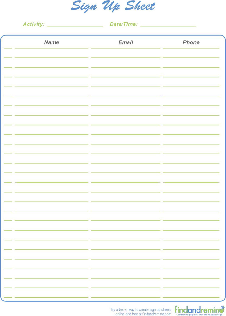 Doc519683 Blank Workout Sheet Free Printable Workout Log and – Blank Sign Up Sheet