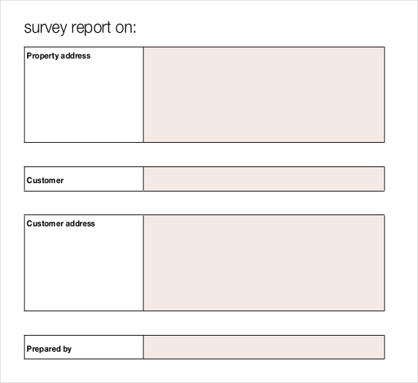 Blank Survey Templates | Download Free & Premium Templates, Forms