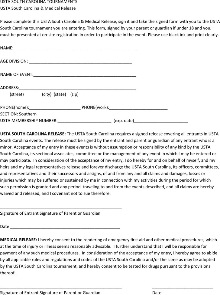 South Carolina Medical Release Form Download Free  Premium
