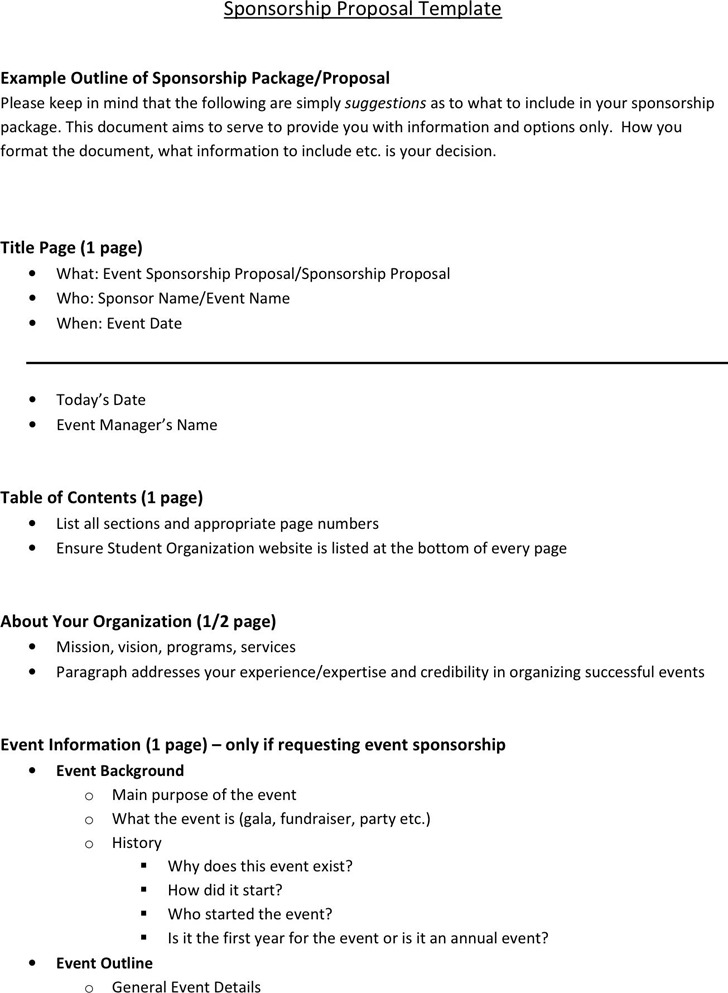Sponsorship Proposal Template Download Free \ Premium Templates - athlete sponsorship proposal template