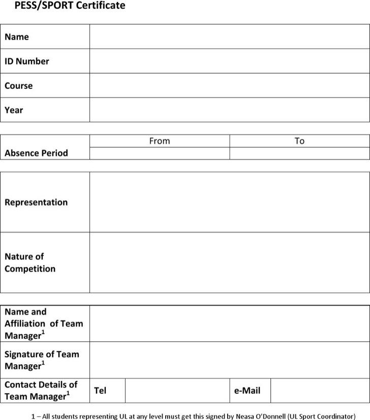 Sample Sports Certificate Templates Download Free  Premium