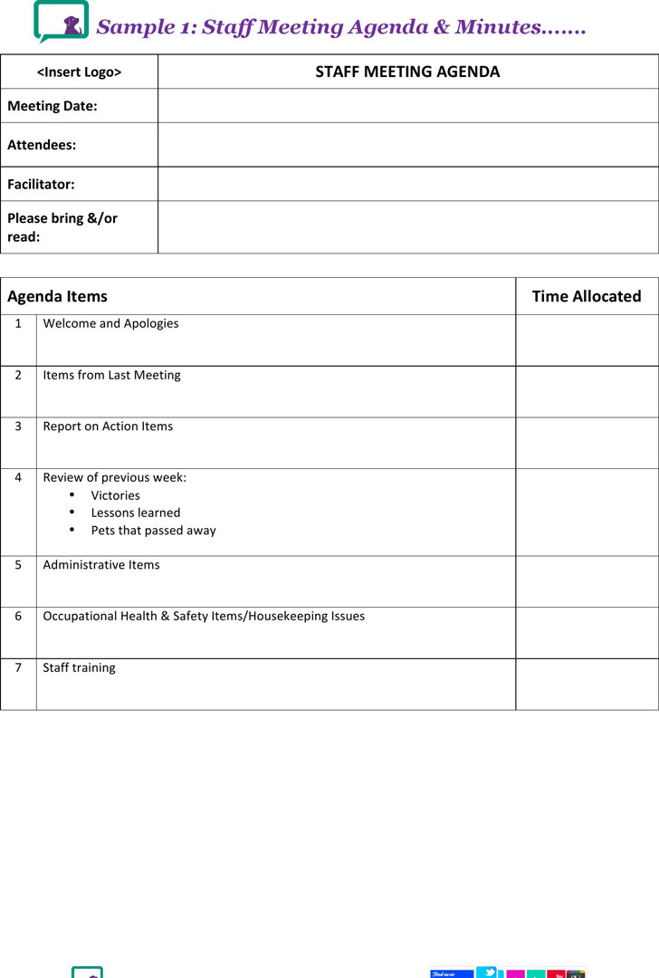 Department Meeting Agenda Template Word | Recommendation Letter
